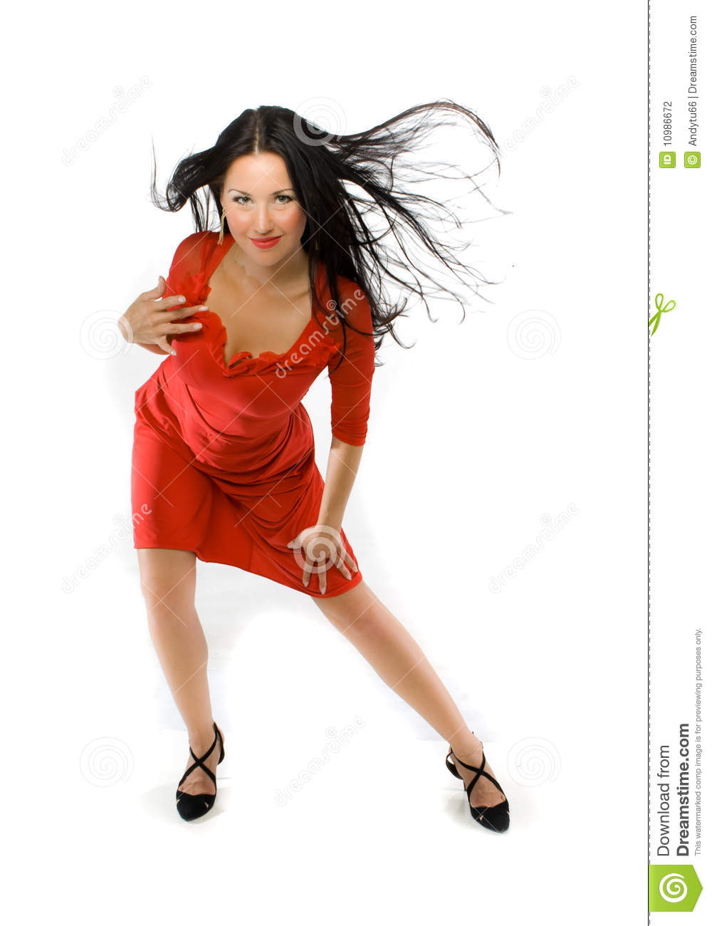 lady in red dress stock photography image 10986672. Black Bedroom Furniture Sets. Home Design Ideas