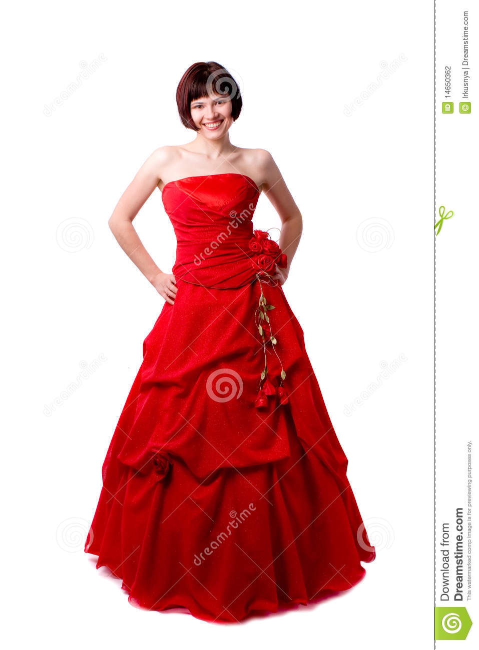 lady in red dress stock photography image 14650362. Black Bedroom Furniture Sets. Home Design Ideas