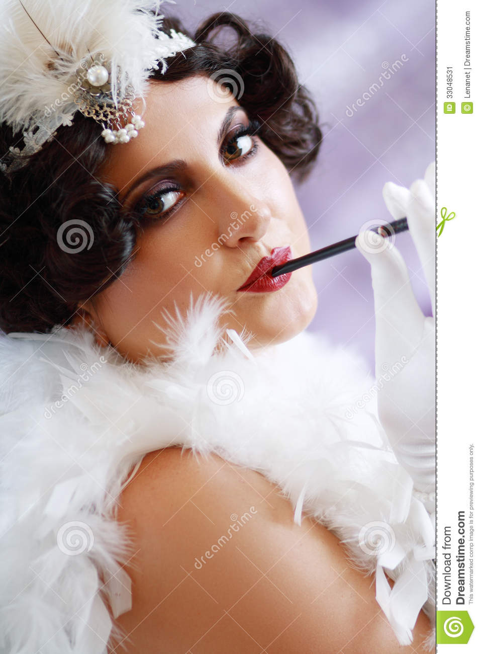 lady from roaring 20s stock image image 33048531