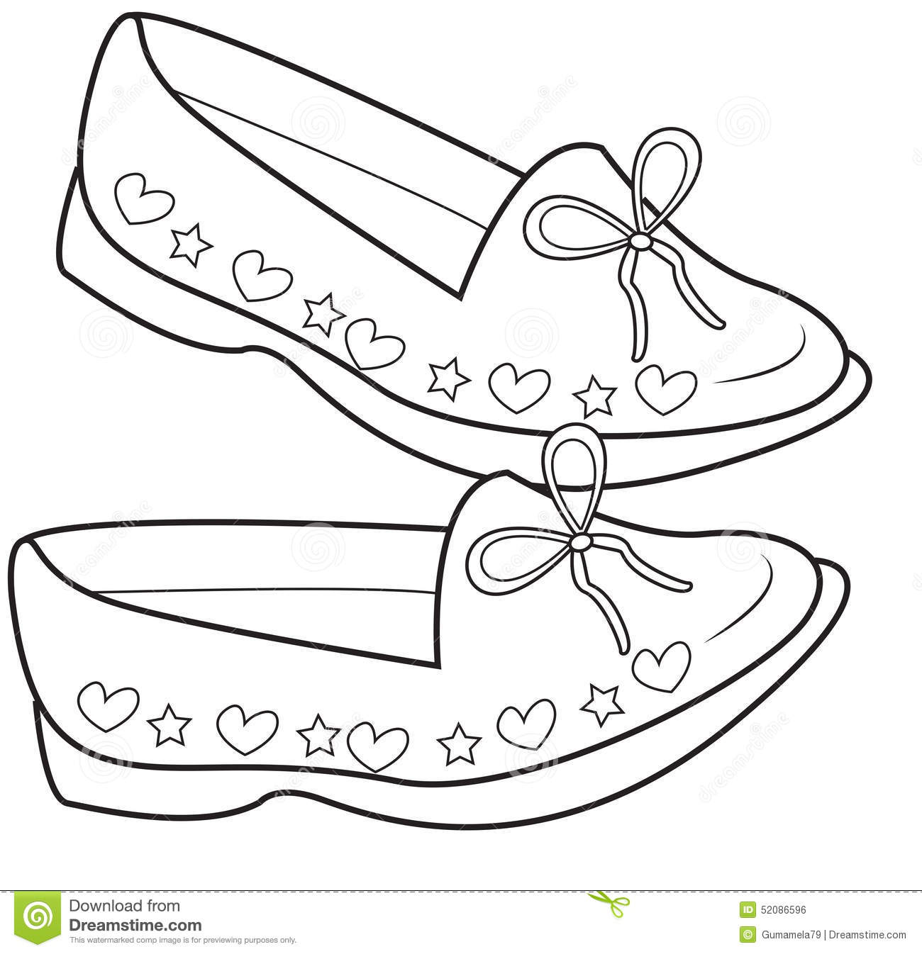 Coloring pages shoes - Book Coloring Kids Lady Page Shoes