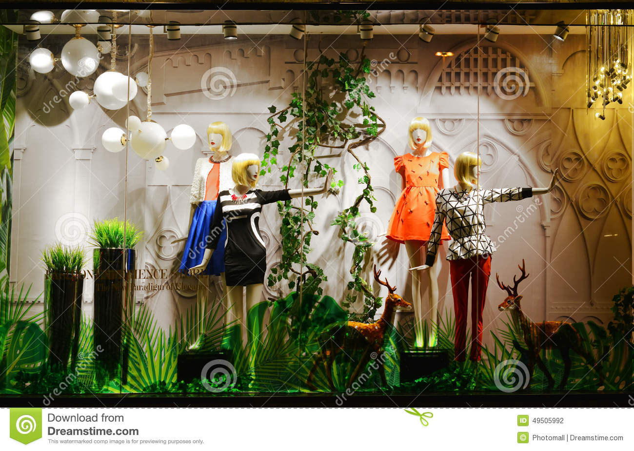 Ladys Spring Fashion Shop Window Editorial Photography