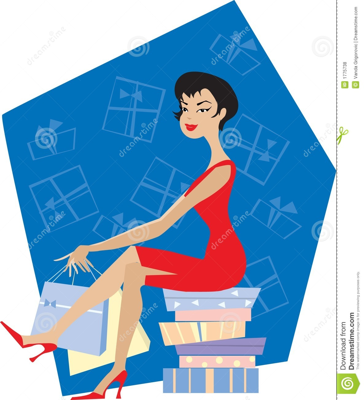 Download Lady shopping stock vector. Illustration of background - 1775738