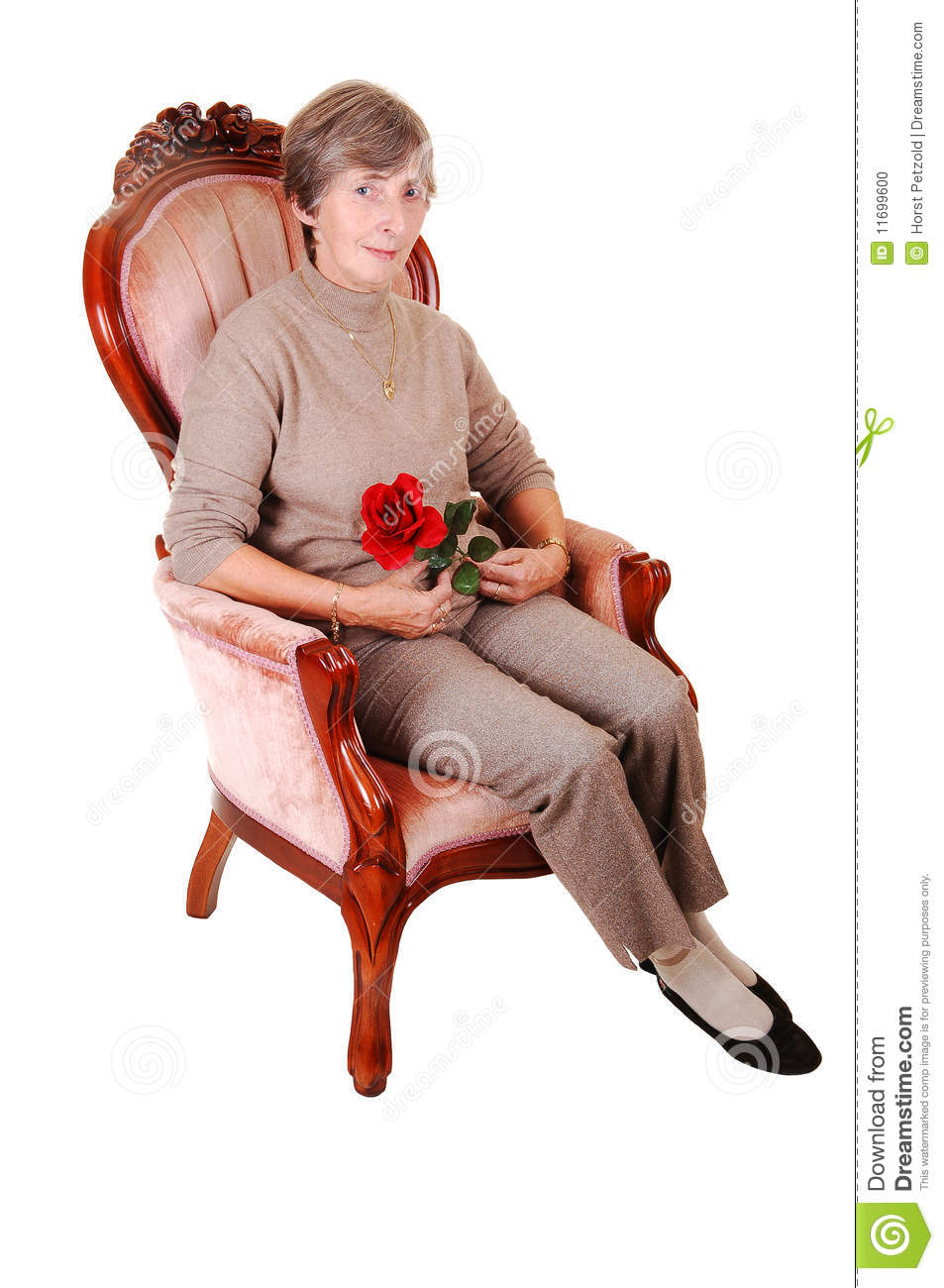 lady sitting on chair stock photo image 11699600 clip art of a rose bush clipart of a rose to color