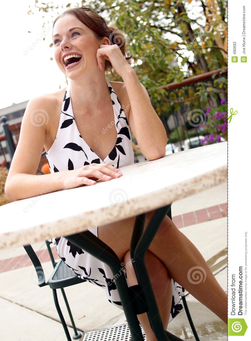 Lady Sitting At A Table 5 Stock Image Image Of Lips