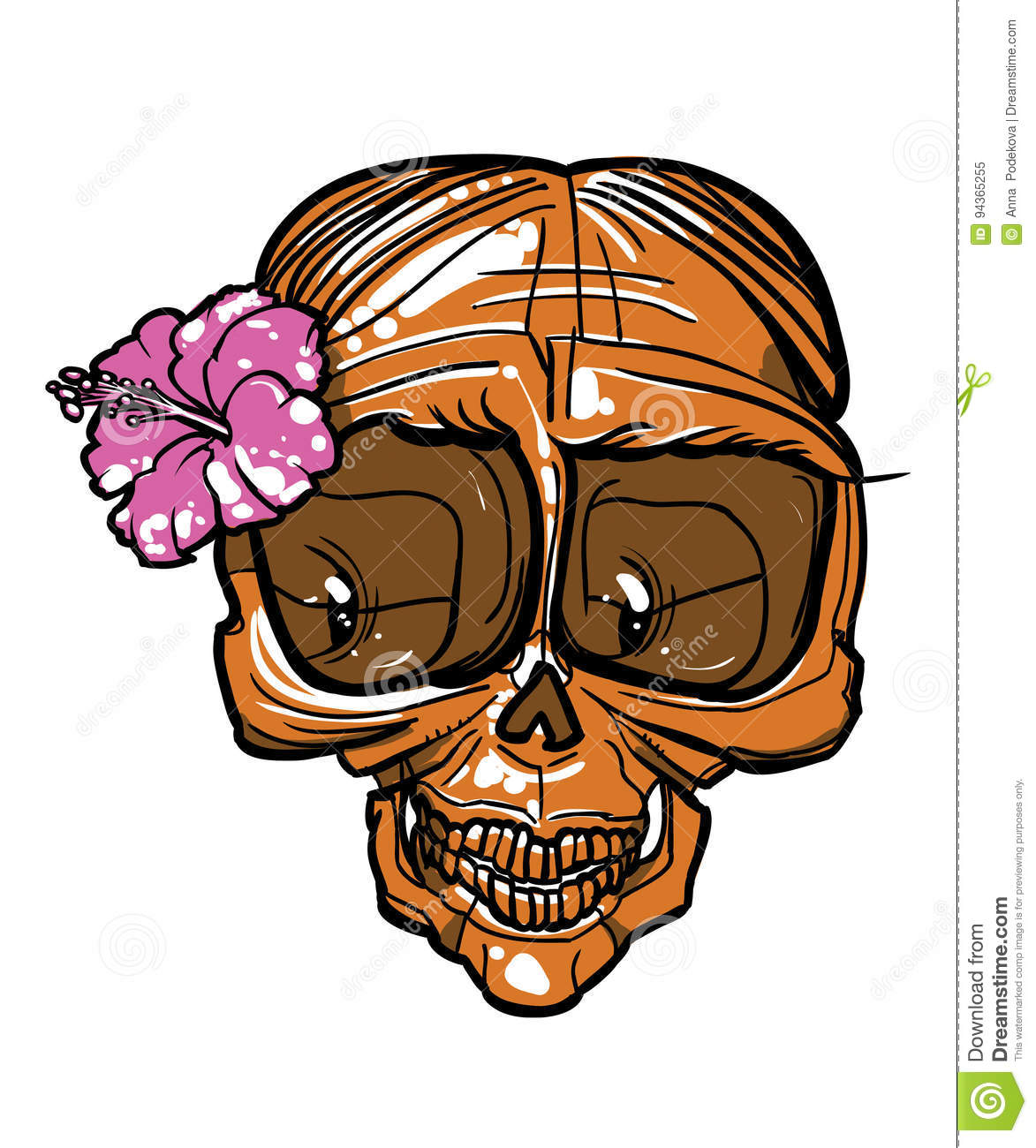 Lady skull with flower