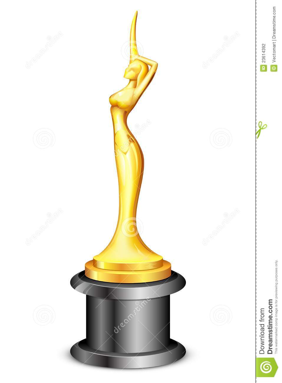 Lady Statue Trophy Stock Vector Illustration Of Celebration