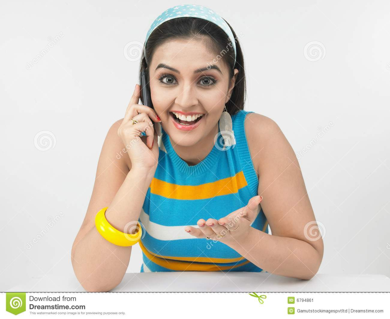 Lady Talking In The Phone Stock Image Image 6794861