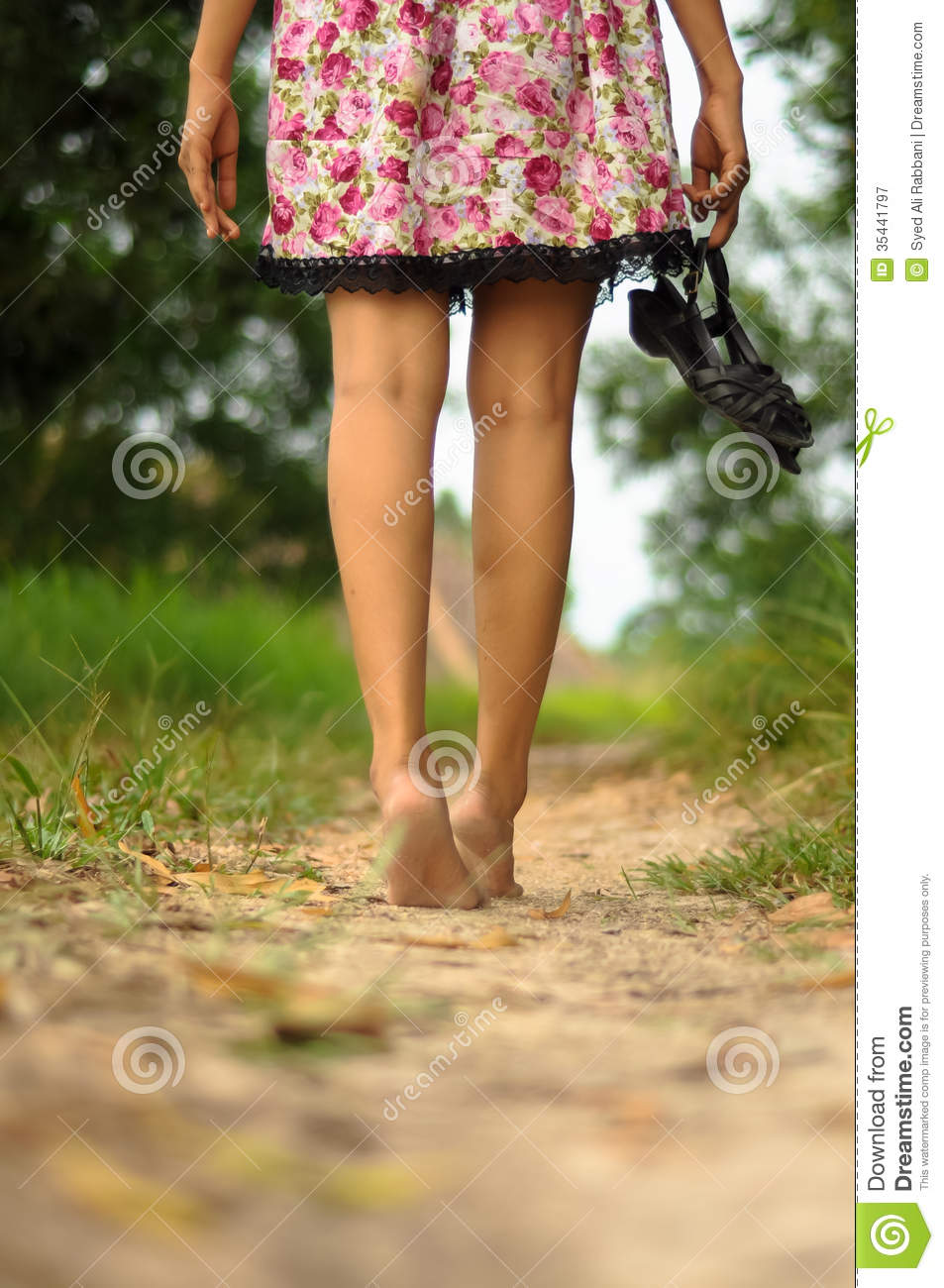 Lady Walking Away Barefoot Stock Images - Download 57 Royalty Free Photos 83308f13351b