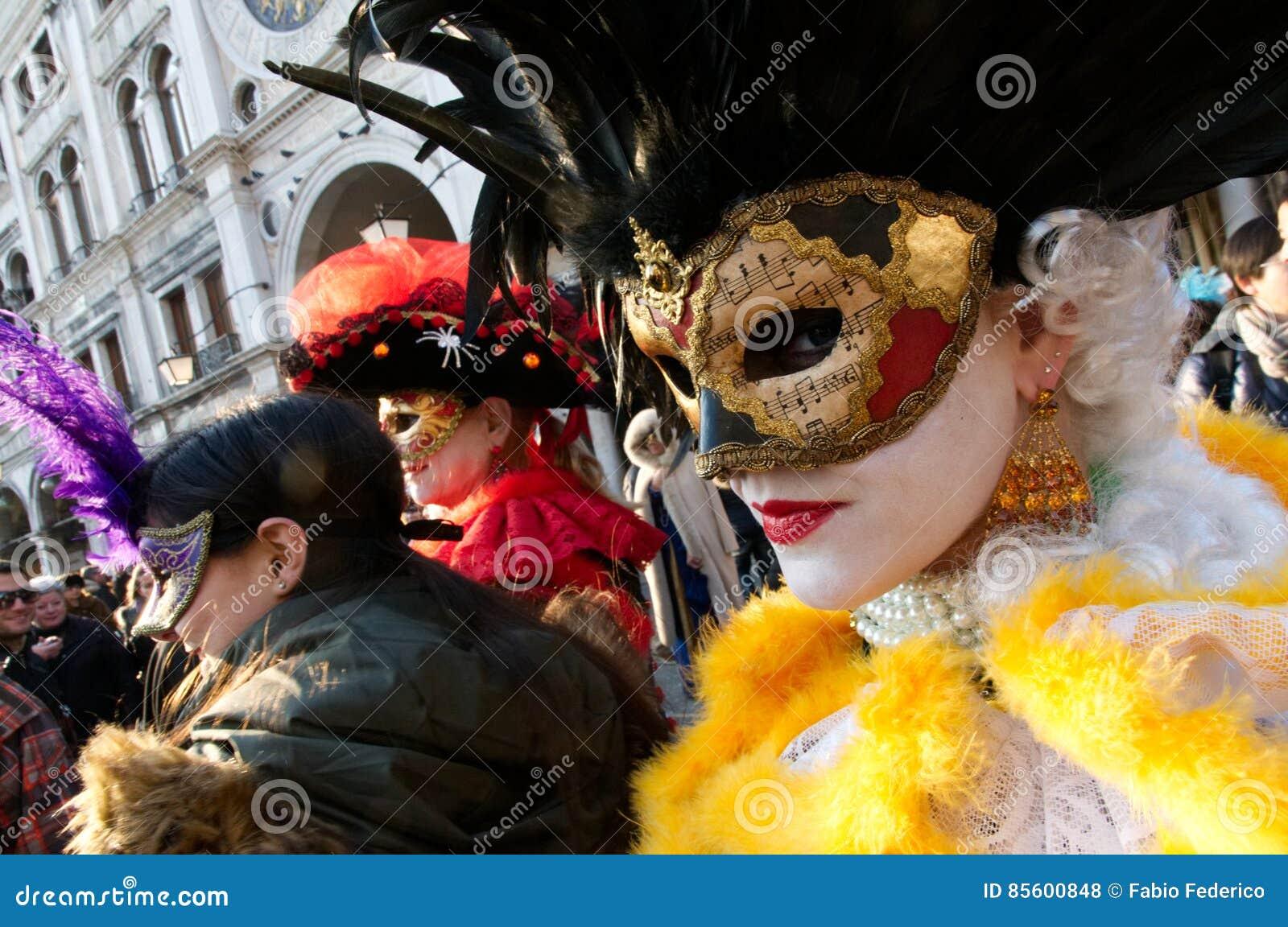 Lady wearing a mask