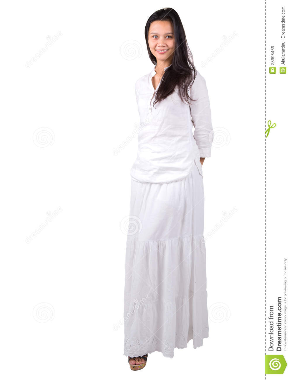 Lady in white iii royalty free stock image image 35996466 - Modele dressing ...
