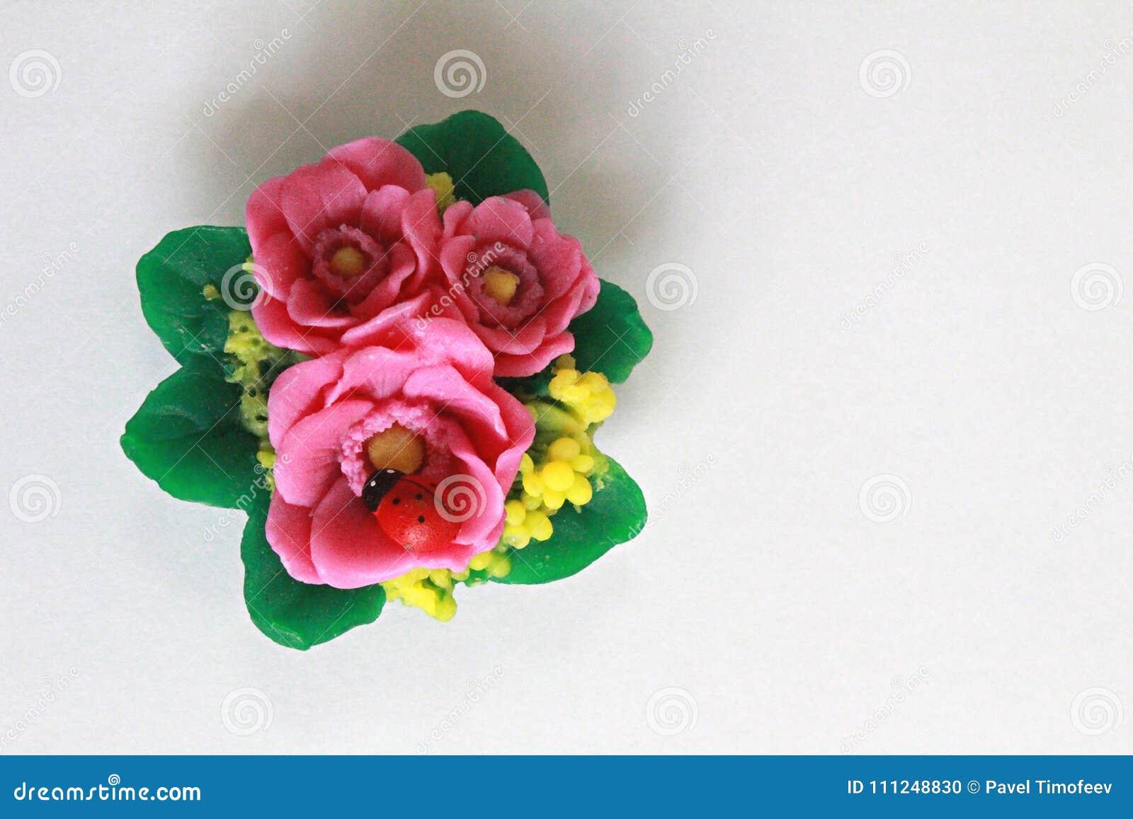 Ladybird Bouquet Of Flowers Souvenir Soap Souvenir Gif Stock