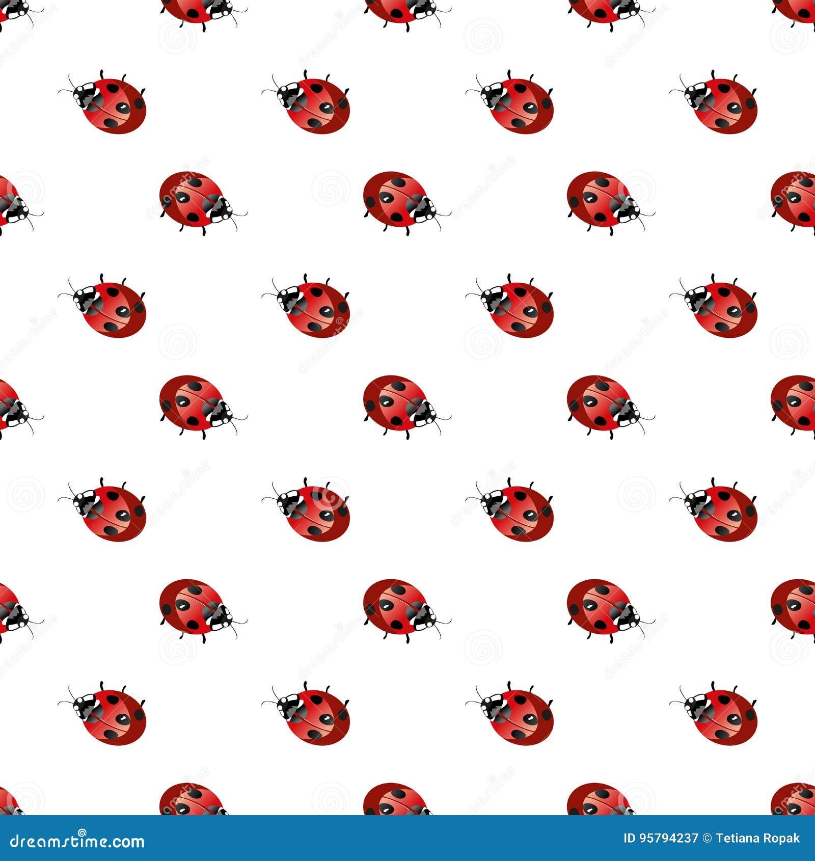 ladybird geometric seamless pattern fashion graphic background