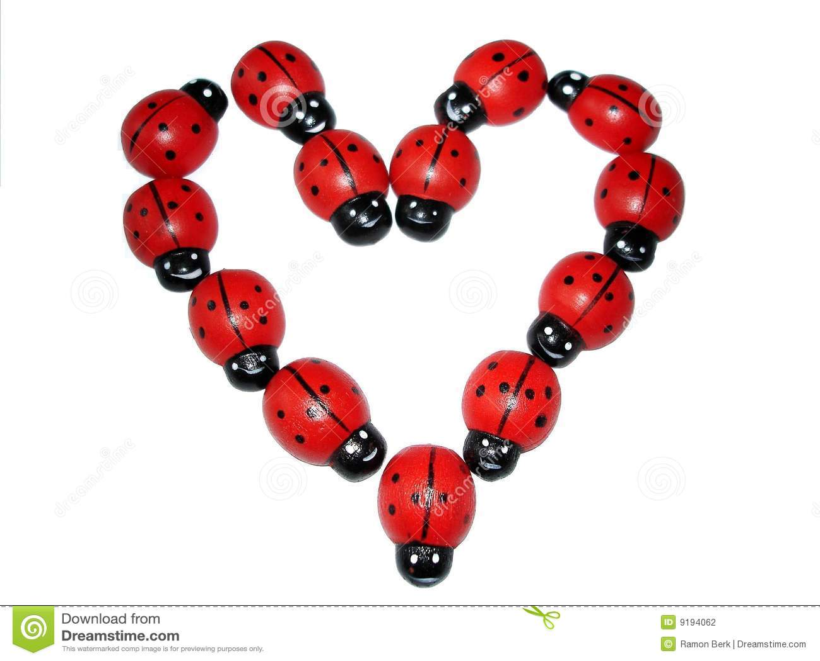 Ladybird heart stock photography image 9194062