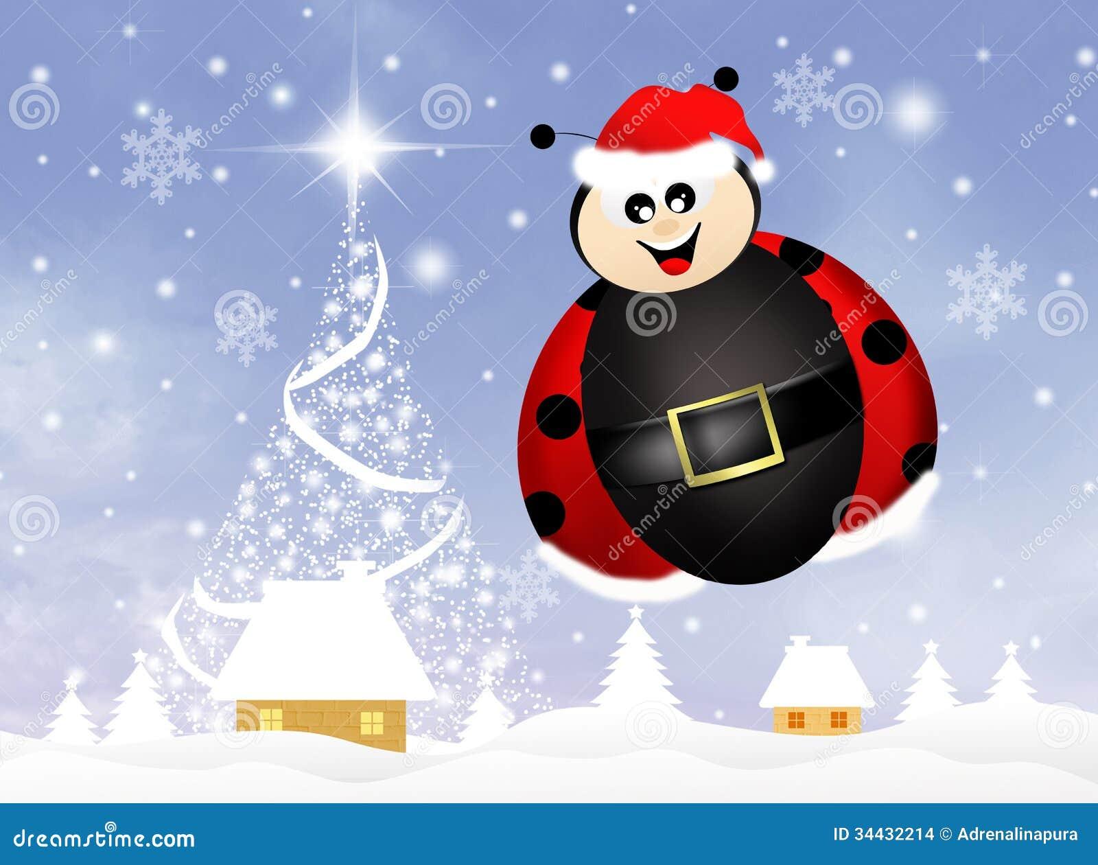 Ladybug At Christmas Stock Illustration Image Of Ladybug