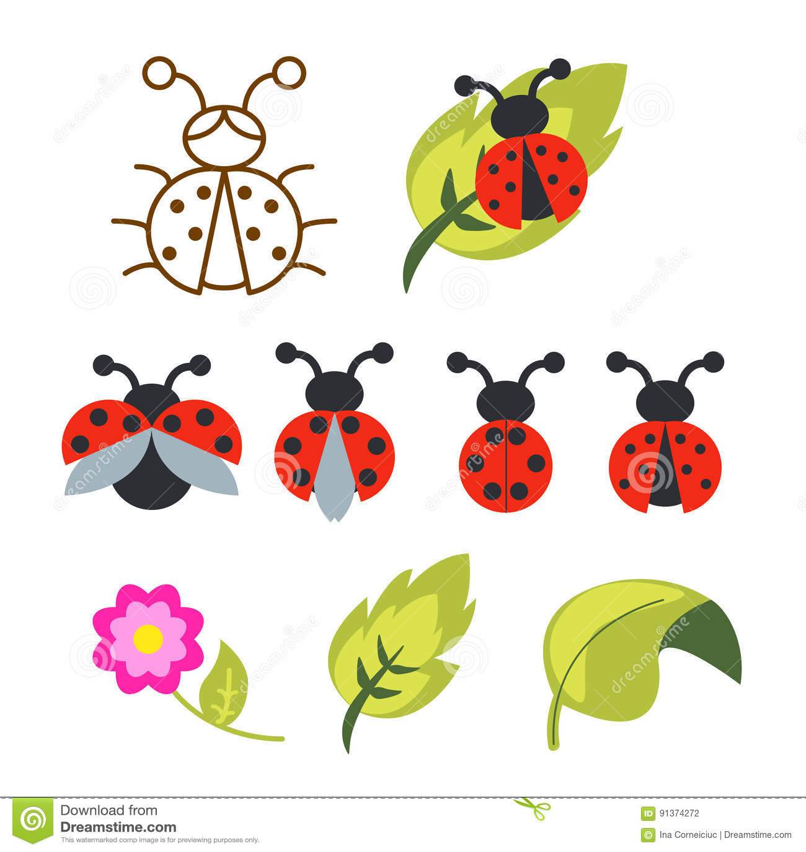green ladybug clipart - photo #12
