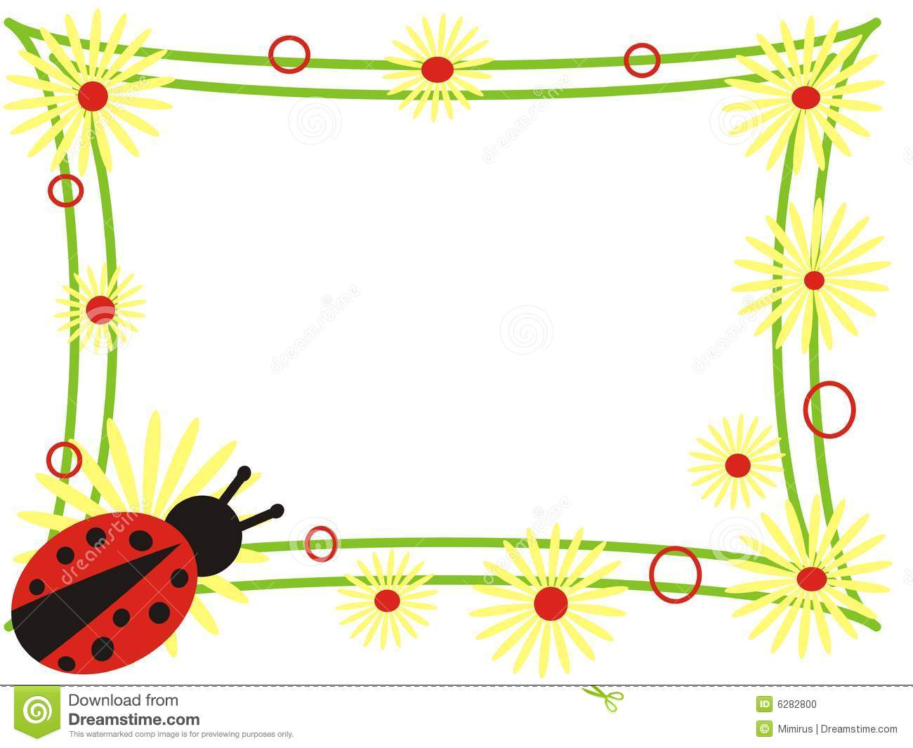 Ladybug frame stock illustration. Illustration of garden - 6282800