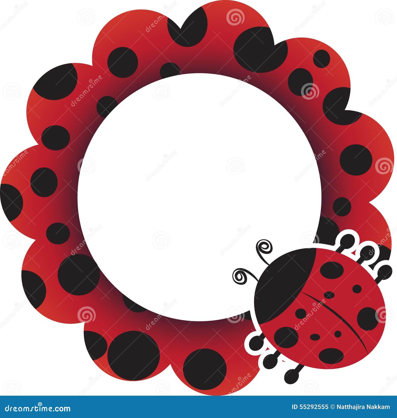 Ladybug Frame Illustration 55292555 - Megapixl
