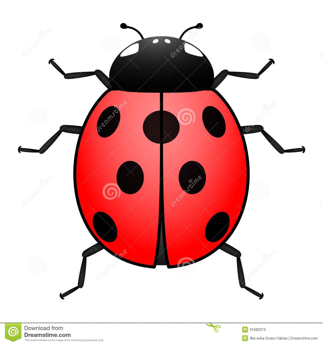 Ladybug Illustration Stock Photos - Image: 31660213