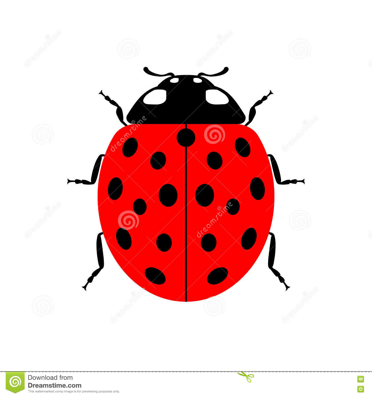 Charming Download Ladybug Red Cartoon Icon Realistic Stock Vector   Illustration Of  Background, Insect: 76310668