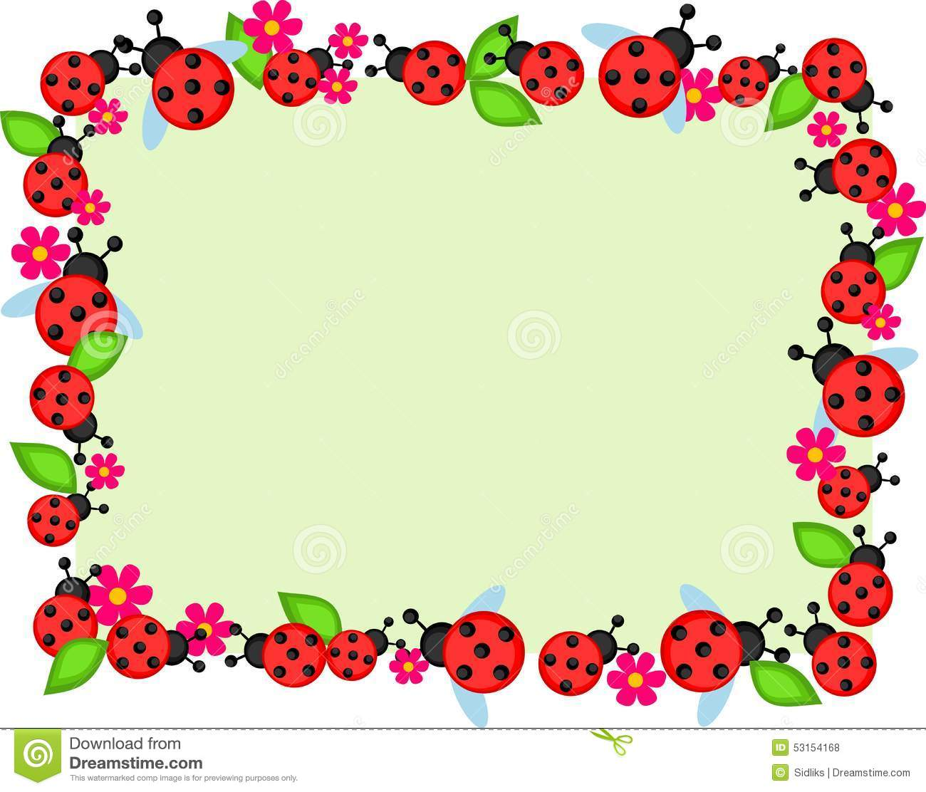 ladybugs frame stock vector illustration of insect small