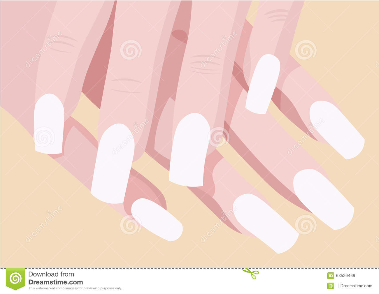Ladys Hands And Manicure Fingers With Place For Art Nail Design ...