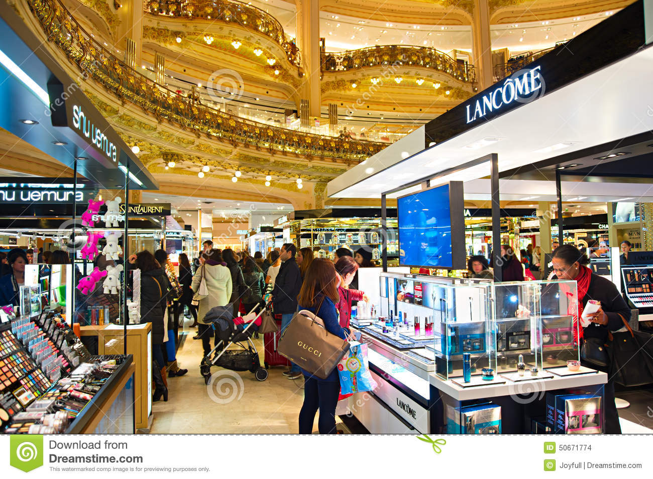 lafayette luxury mall paris editorial stock image image of