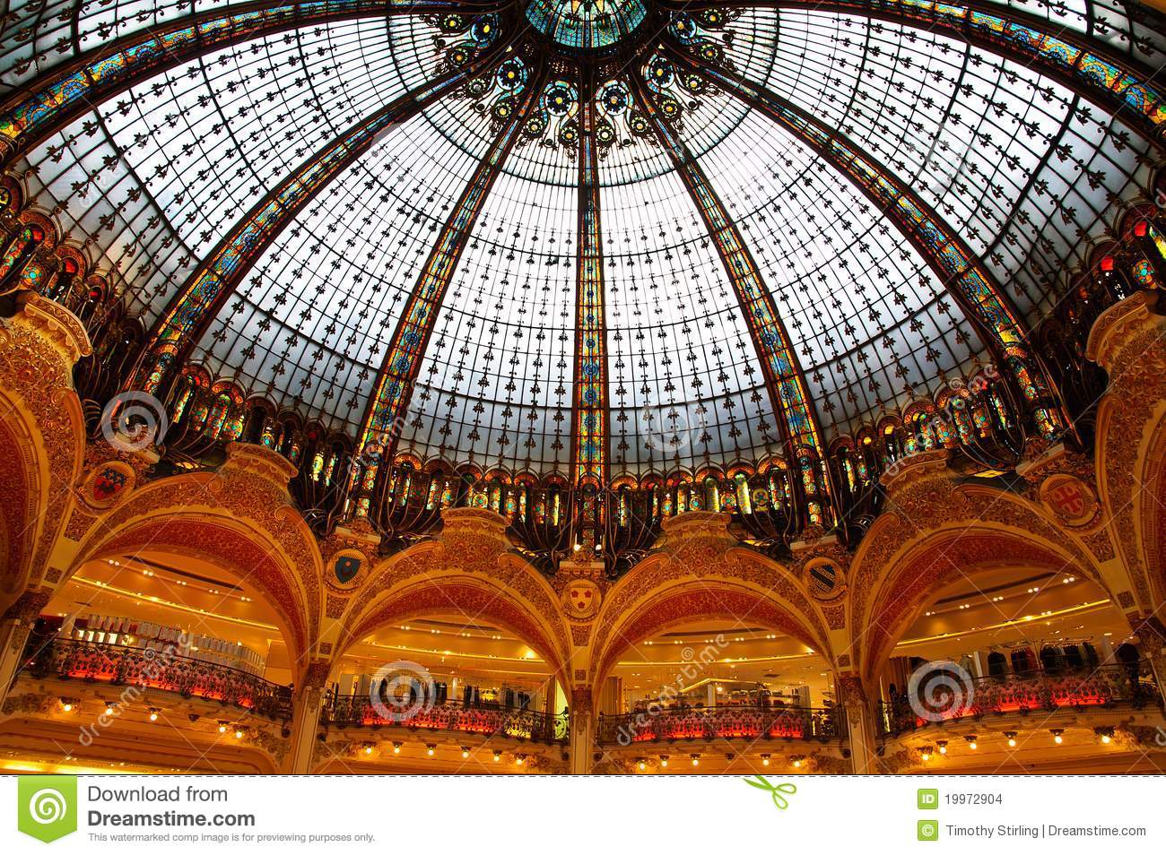 Lafayette Luxury Shopping Mall In Paris Stock Images