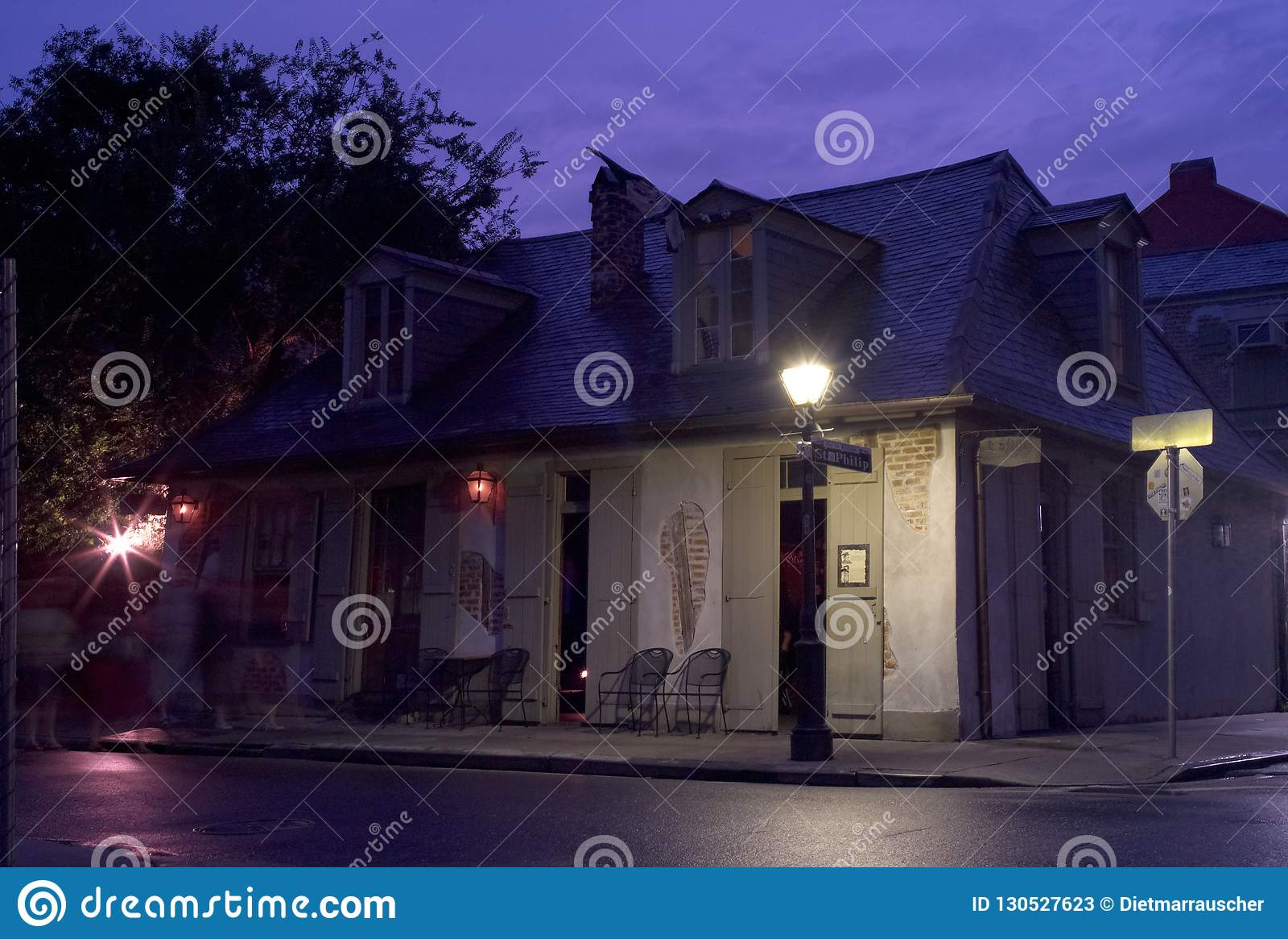 Lafittes Schmied Shop Bar in New Orleans am Abend