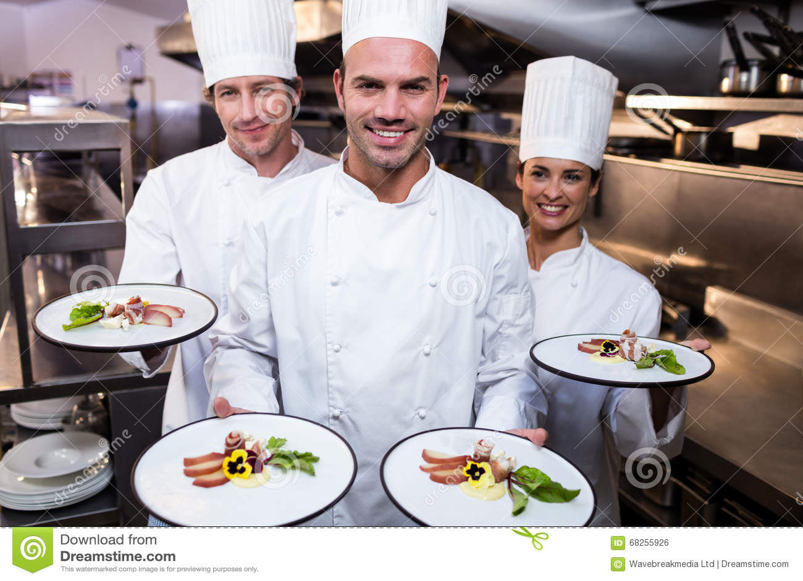 Lag av kockar som framlägger deras disk