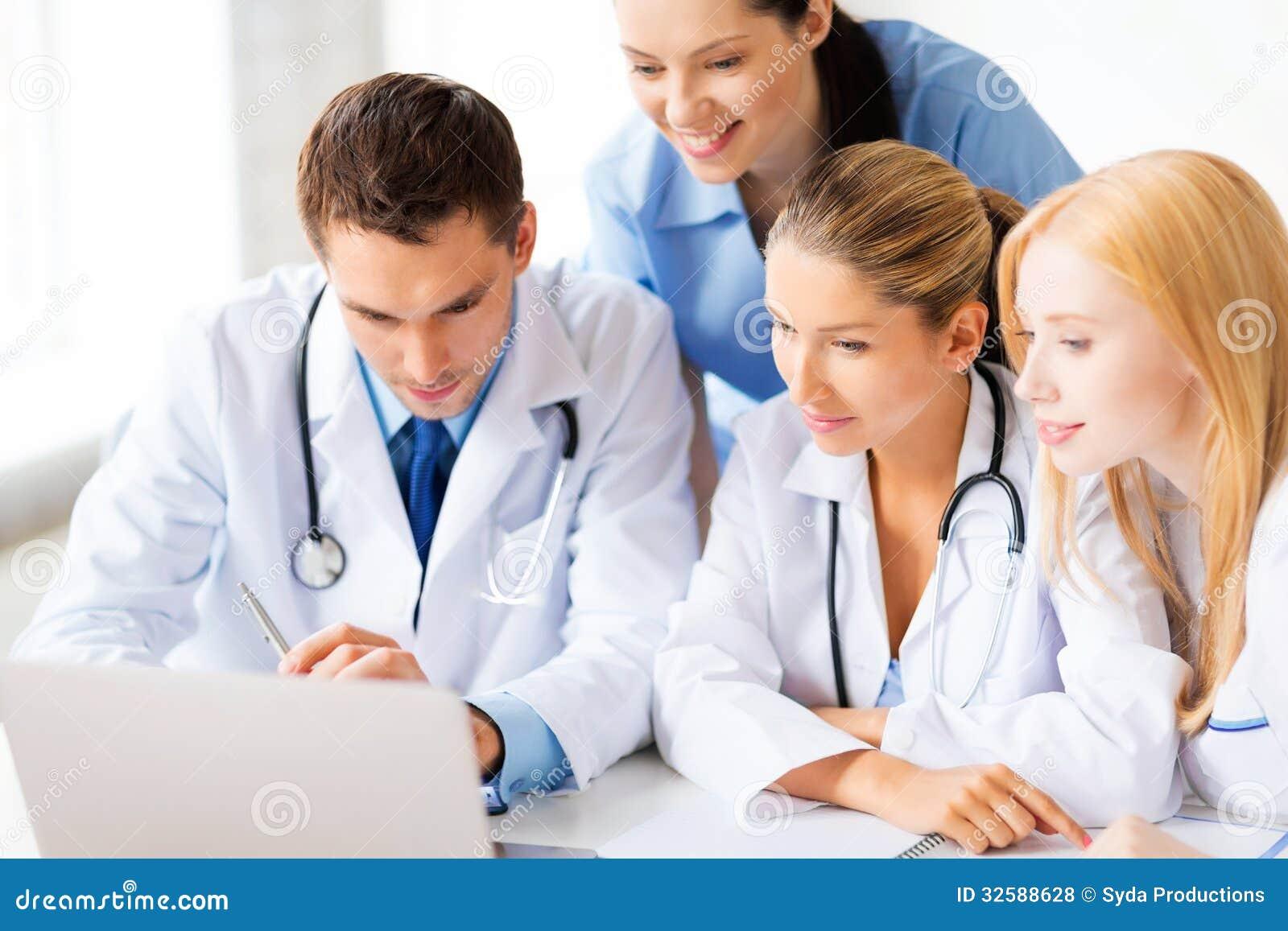 Lag eller grupp av att arbeta för doktorer