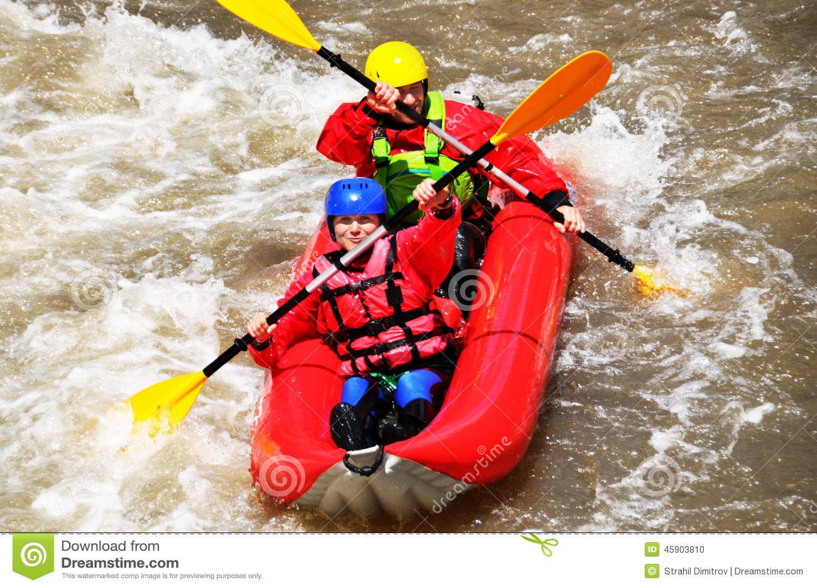 Lag som kayaking som extrem och rolig sport