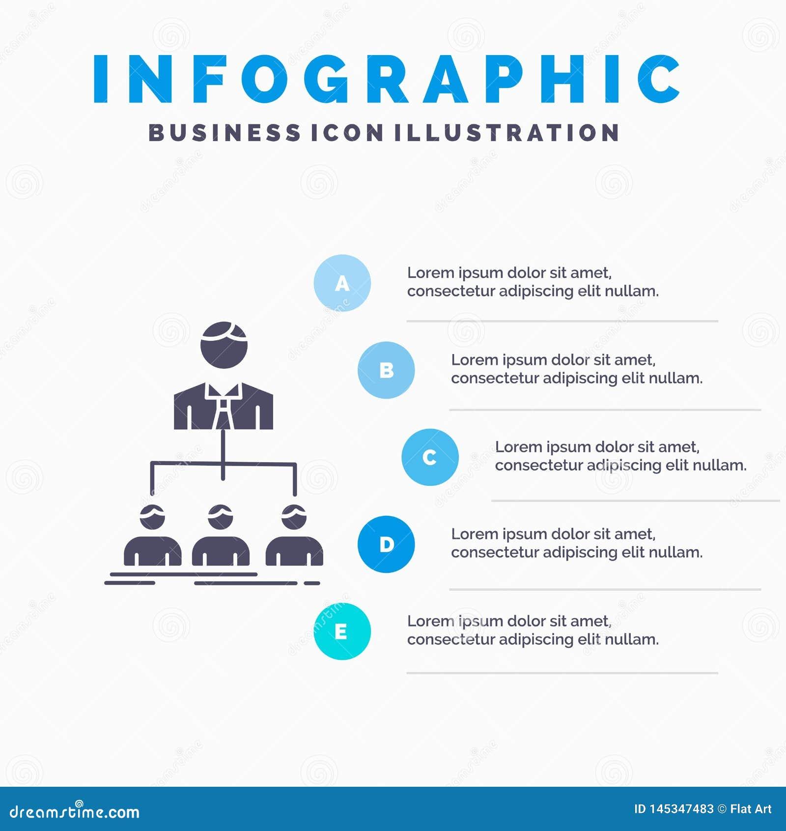 Lag, teamwork, organisation, grupp, f?retagsInfographics mall f?r Website och presentation Gr? symbol f?r sk?ra med bl?tt