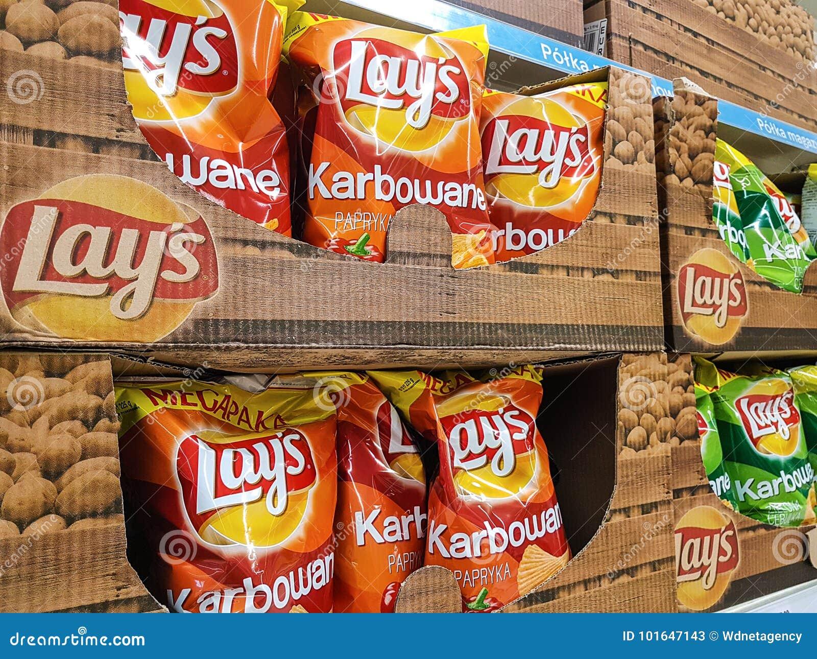 Lage-Chips auf Ladenregalen