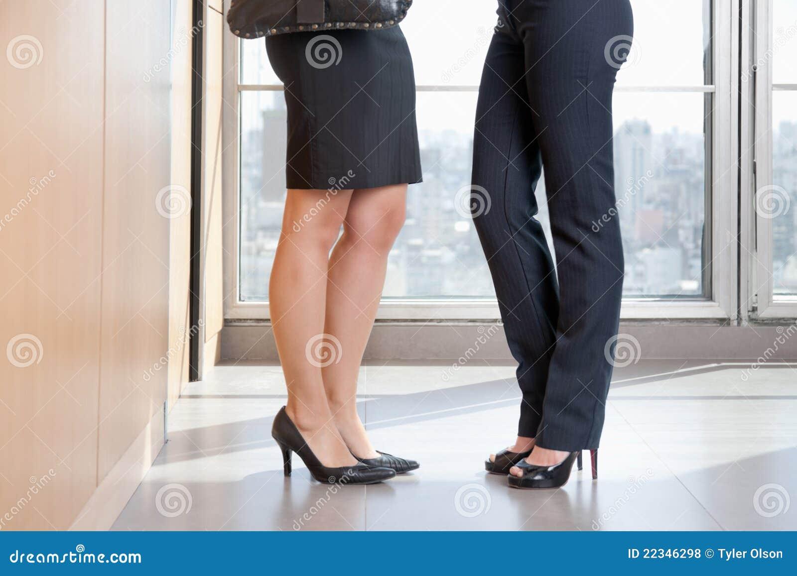 Lage Sectie van de Twee Vrouwelijke Uitvoerende macht in Hoge Hielen