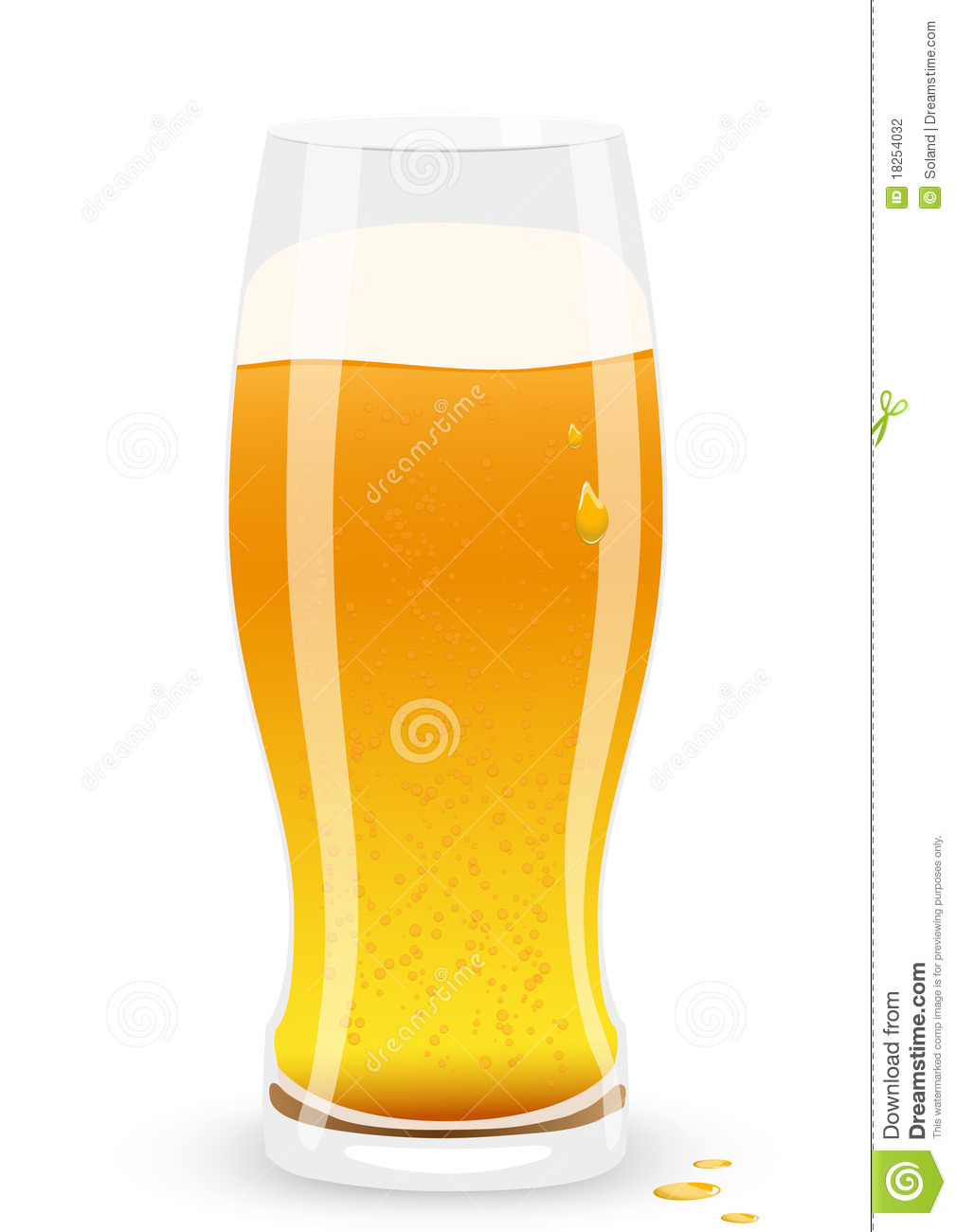 Lager Beer. Vector Illustration. Stock Photography - Image: 18254032