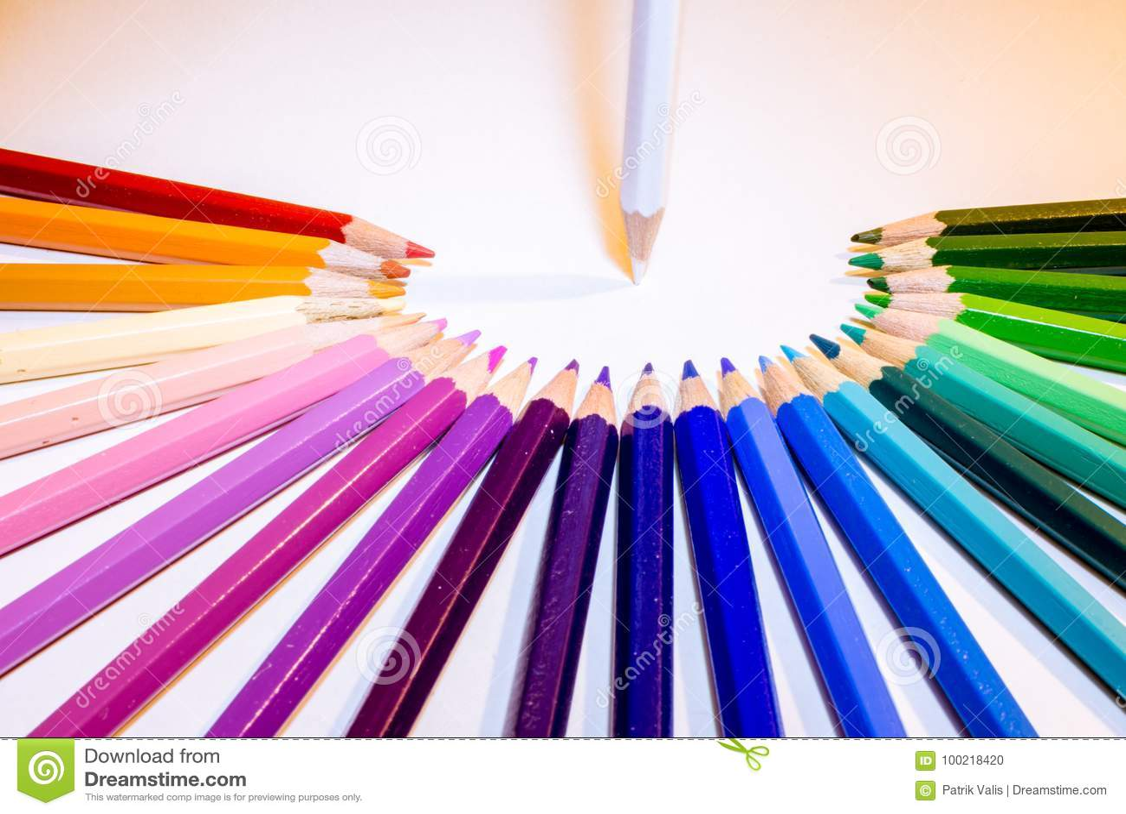 Lagledning av färgpennor
