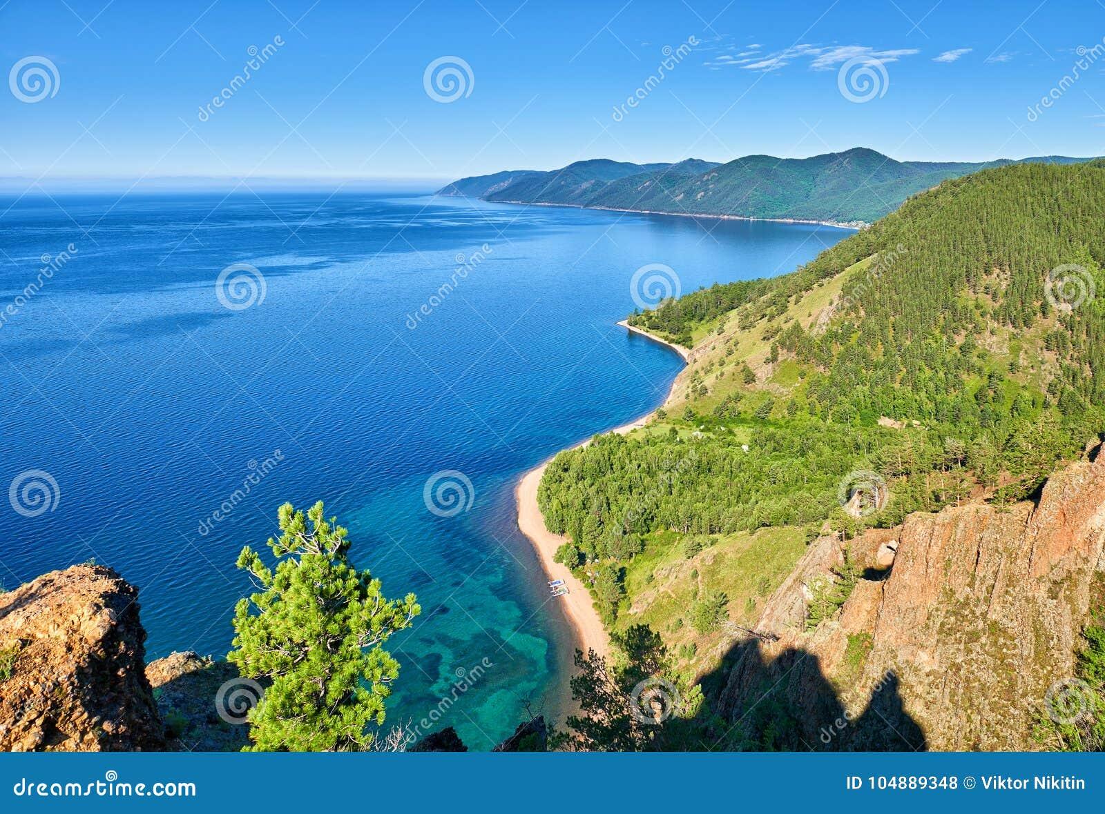 Lago Baikal Vista do penhasco