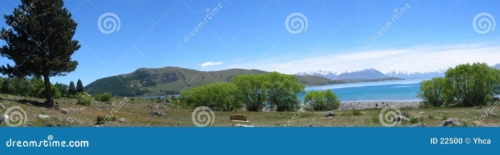 Lago cerca del cocinero del Mt, Nueva Zelandia
