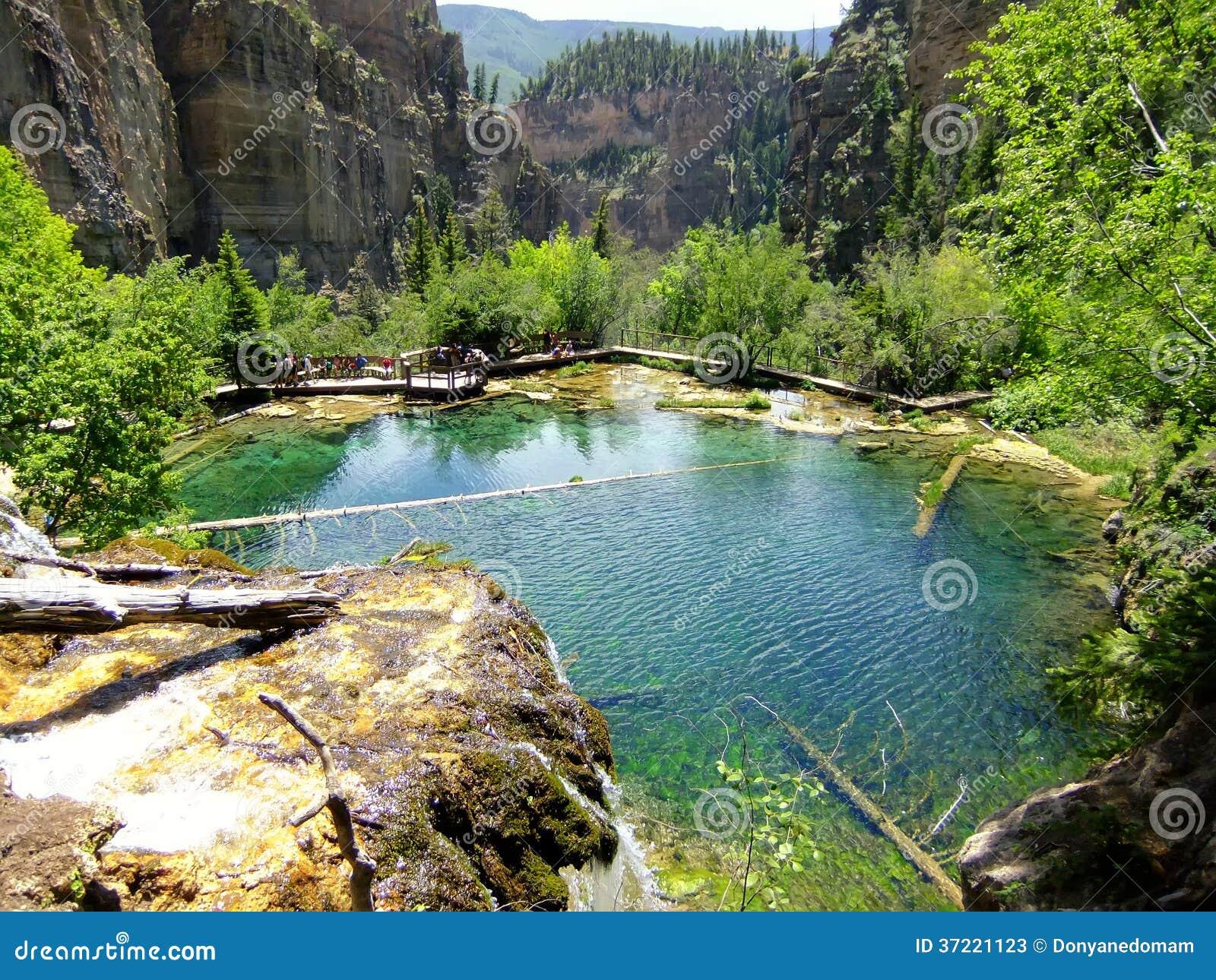 Lago d attaccatura, canyon di Glenwood, Colorado