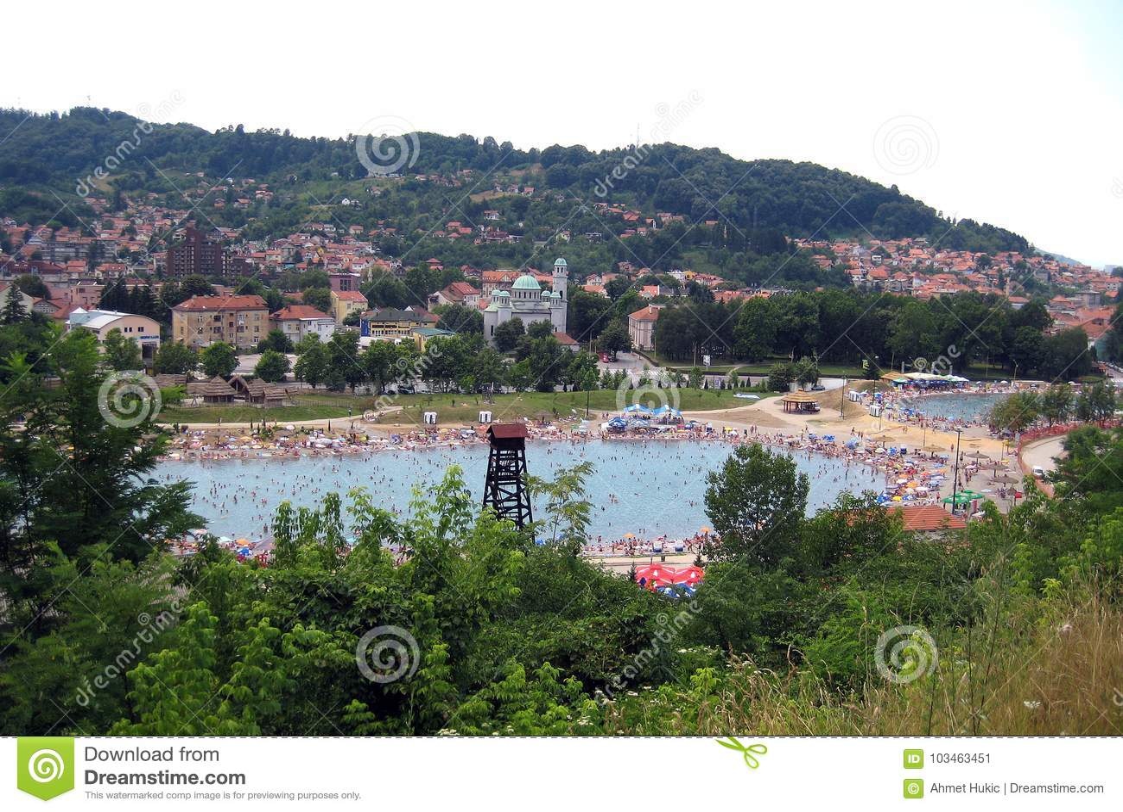Lago de sal de Tuzla