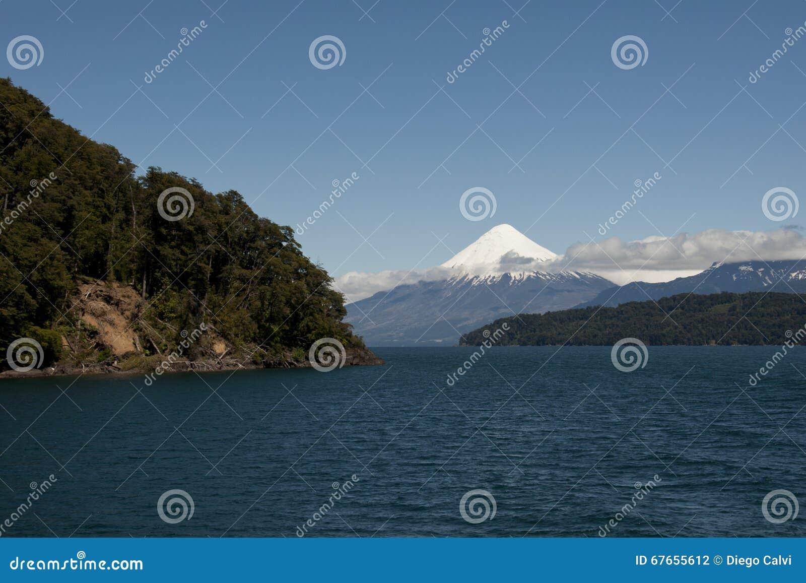 Lago de Todos los Santos with snowy Volcano