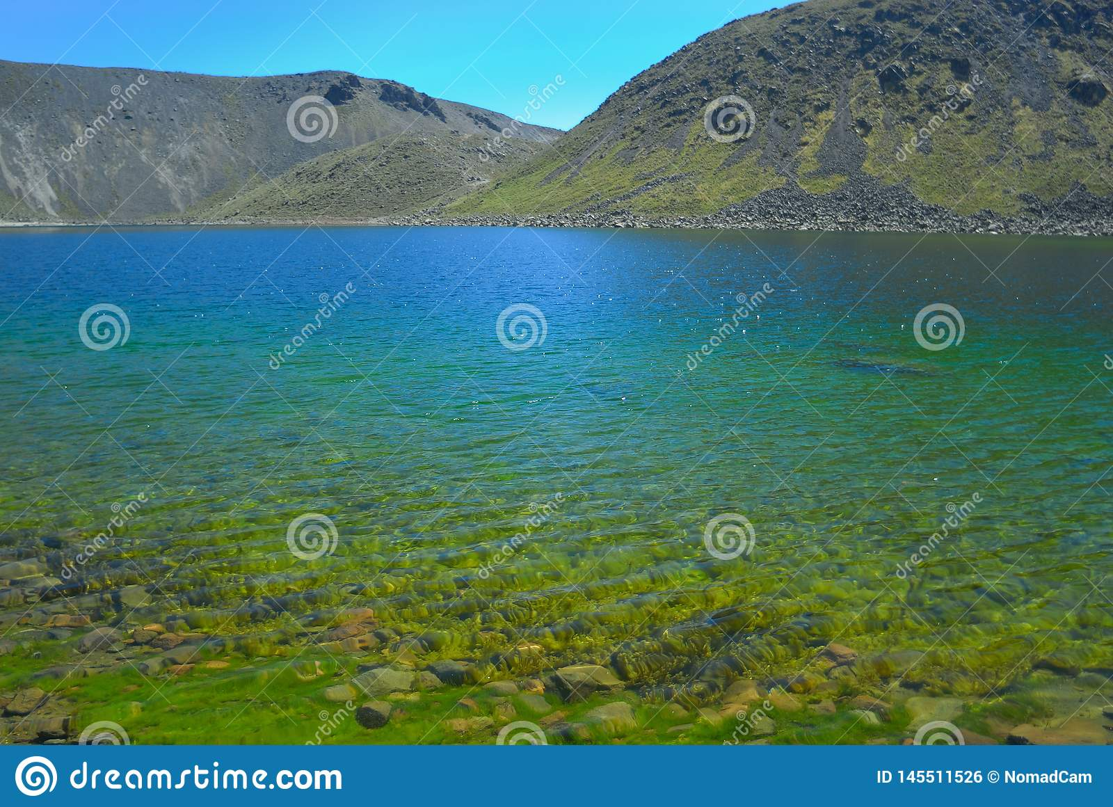 Lago Del Zol w Nevado De Toluca wulkanie Meksyk