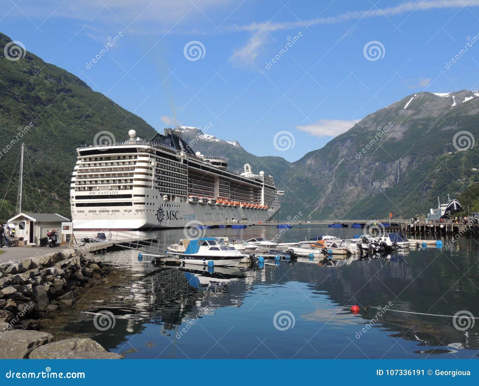 lago della montagna del paesaggio del msc dei fiordi di