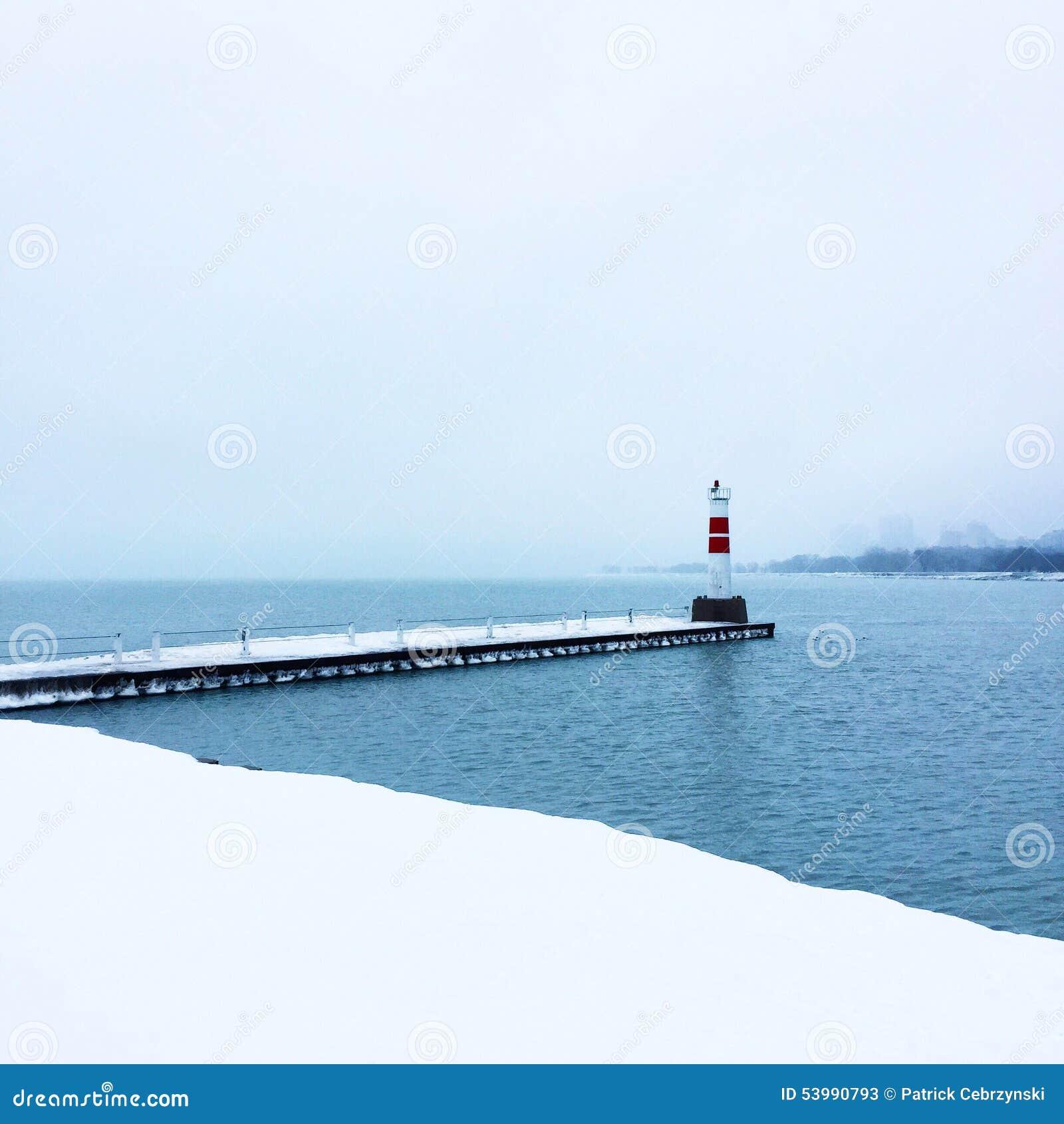 Lago durante o inverno