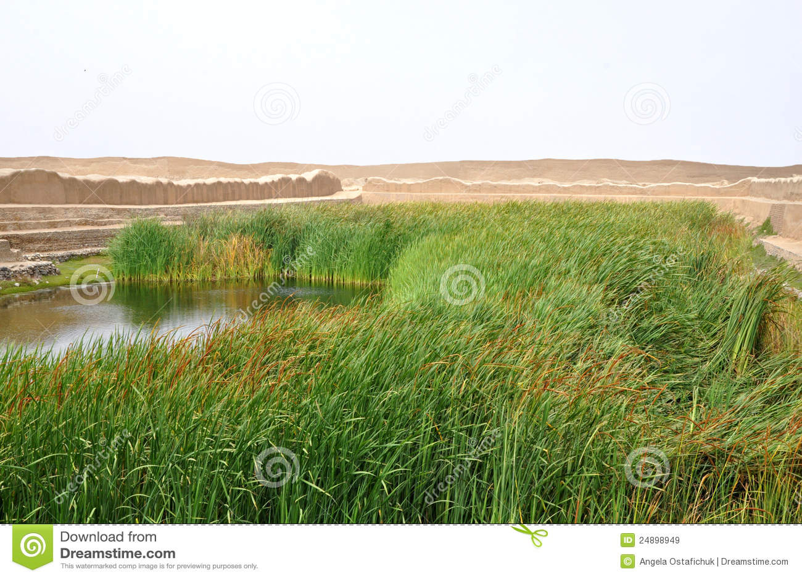 Lago em Chan Chan