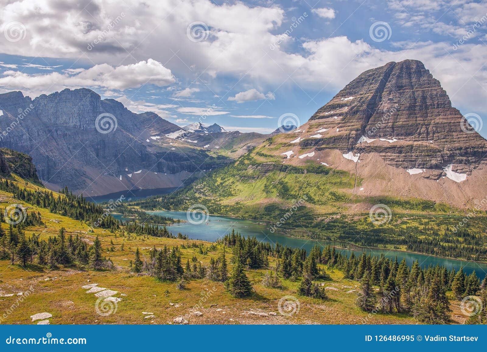 Lago escondido Parque nacional de geleira montana EUA