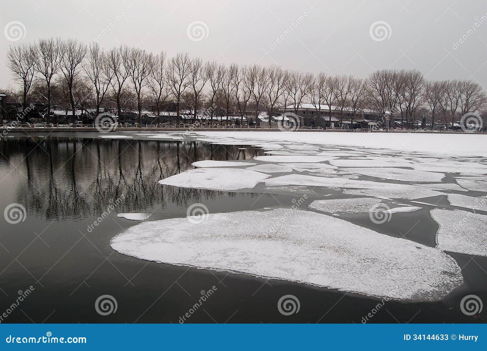 Lago Houhai, Pekín en primavera temprana