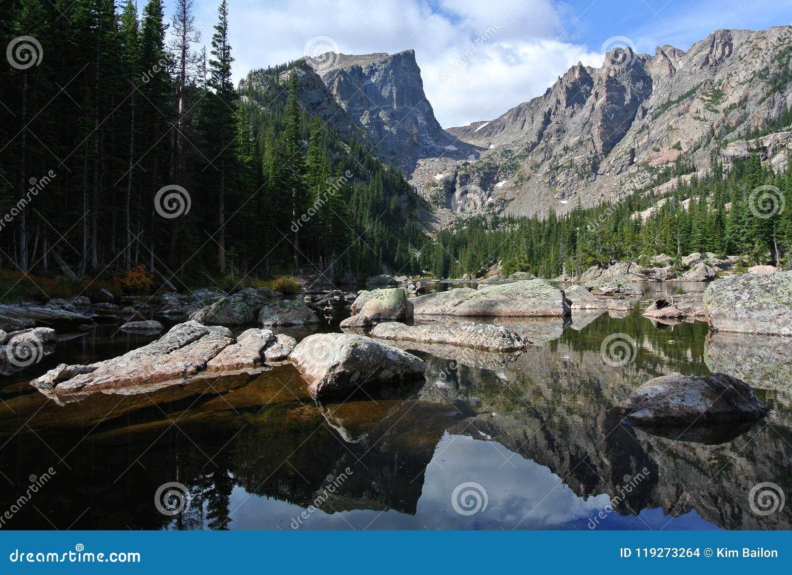 Lago ideal, Rocky Mountain National Park, Colorado