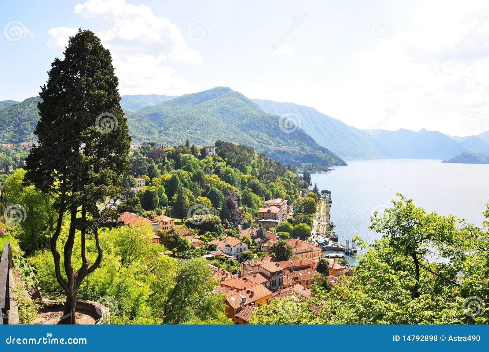 Lago italiano famoso Como