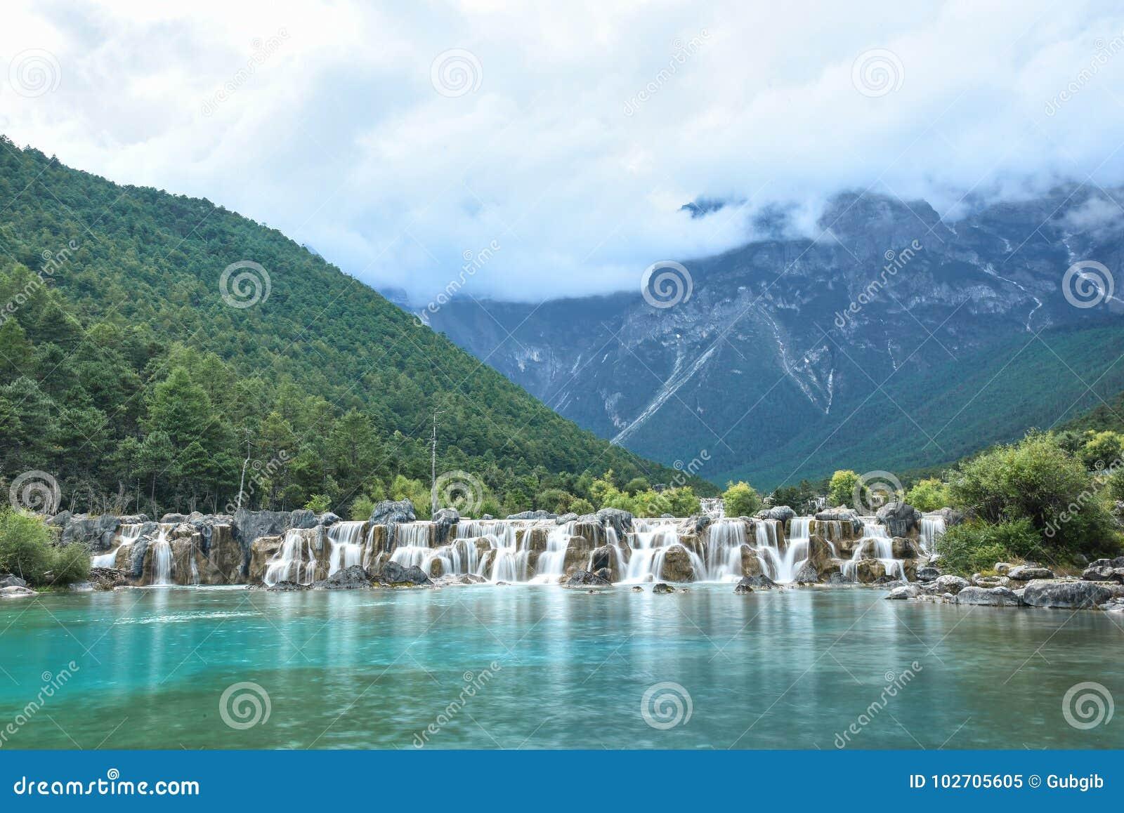 Lago Lanyue em Jade Dragon Snow Mountain